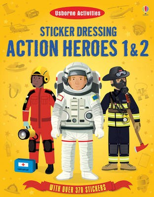 ACTION HEROES 1 & 2:Usborne Sticker Dressing
